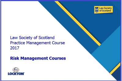 Practice Management Course 2017 - Risk Management materials