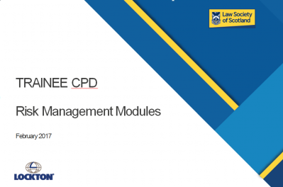 Trainee CPD - Risk Management